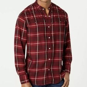 I.N.C. Men's Studded Windowpan Shirt